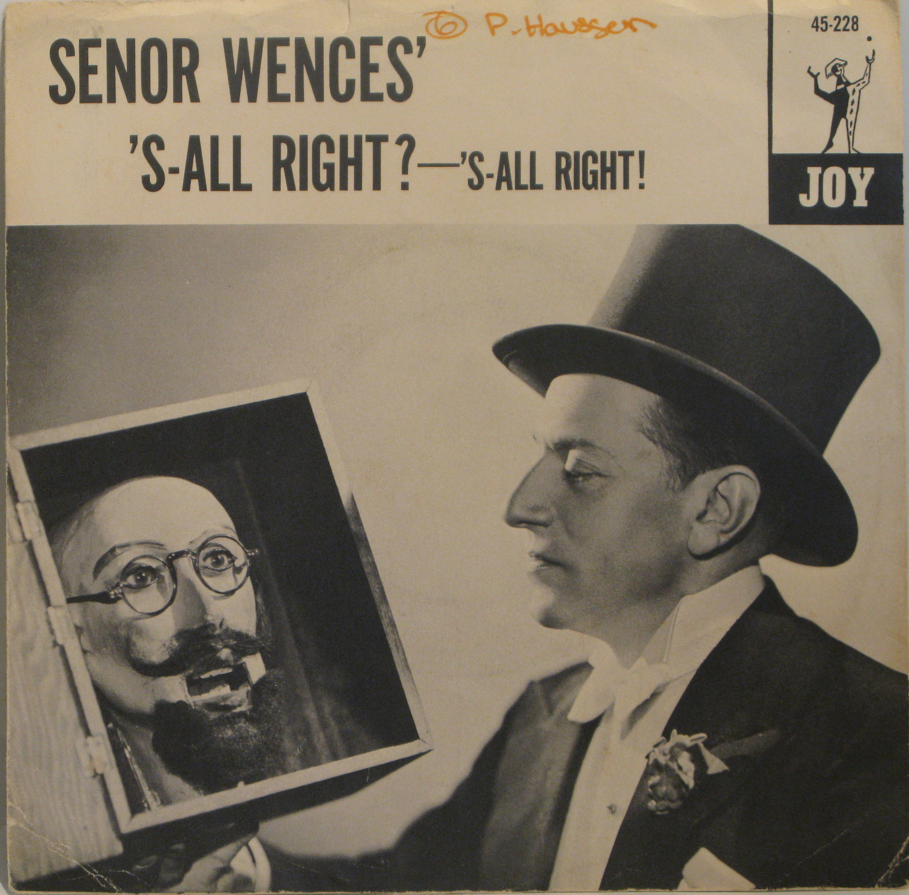 Image result for record album cover with senor wences